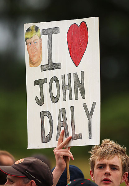 John Daly's fans were out to support him Friday after a first round where he briefly held the lead after an eagle on No. 11. He was eight over and missed the cut.