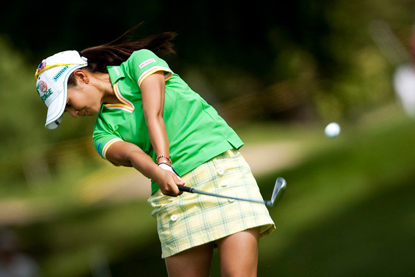 Ai Miyazato is tied for second thanks to back-to-back 68s.