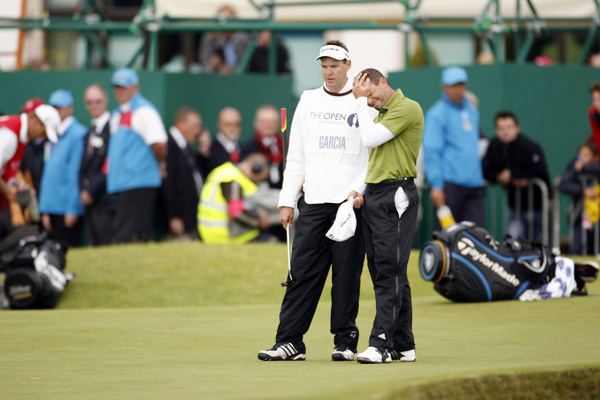 Garcia's frustration was evident after he missed his putt. He and Harrington went to a four-hole playoff on Nos. 1, 16, 17 and 18.