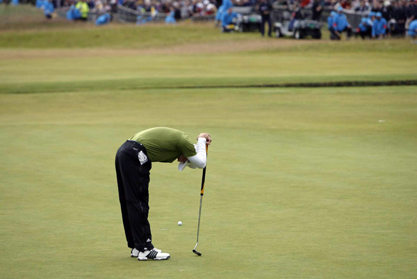 "3. Sergio Garcia lips out                     The stuff of dreams. A 10-footer at the last hole to win the British Open. Yes, yes, yes, hang on, yes, no, no, aaarrrrggghhh! ""I still don't know how that par putt stayed out,"" a distraught Garcia said afterward."