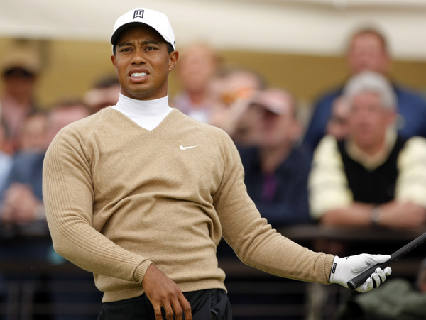 5. Tiger's O.B. duck hook at the 1st in round 2                     You had to look again at the replay just to make sure you weren't watching a video of yourself at last weekend's society golf outing. Makes you kind of proud to know the world's finest golfer can look like a hacker, too.
