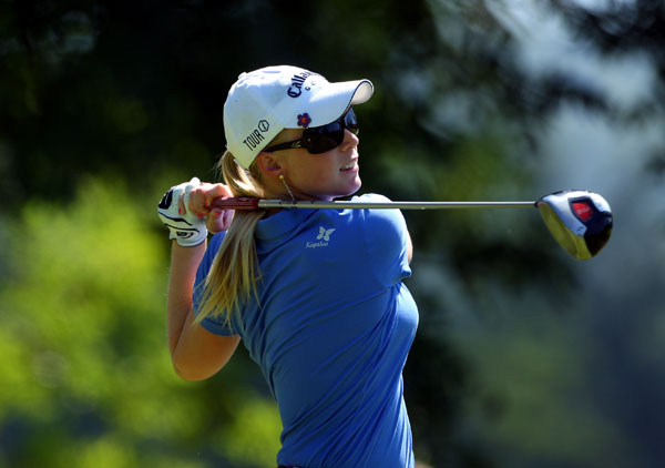 Morgan Pressel made birdies on 15 and 18 for a 69.