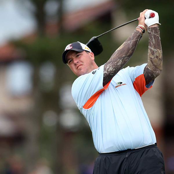 Boo Weekley stood out in a camouflage-print. Several reporters initially thought he was heavily tattooed.