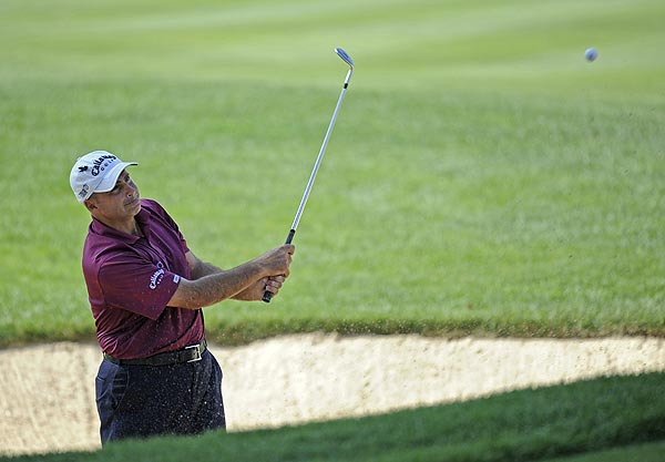 Rocco Mediate's opening-round 68 left him at two under par.
