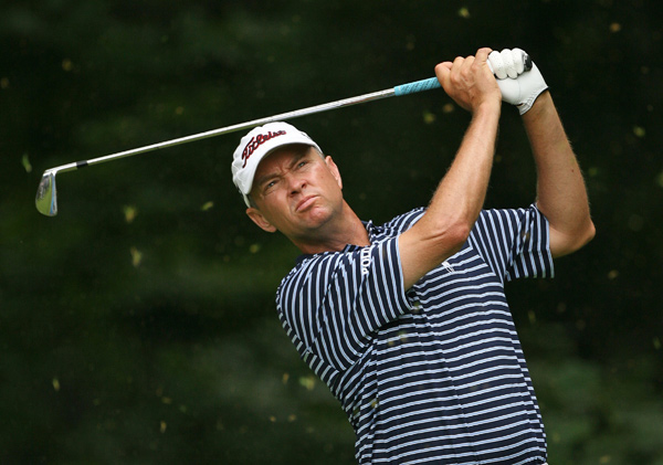 Davis Love III made five birdies and two bogeys for a 67.