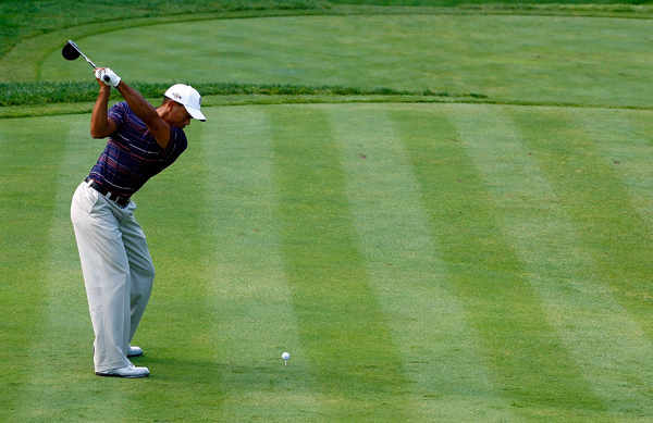 Woods made five birdies and one bogey.