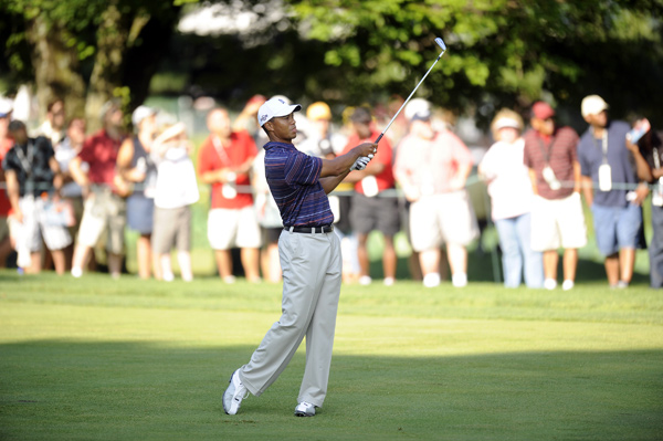 Second Round of the AT&T National                                              Tiger Woods moved into the lead after a four-under 66.