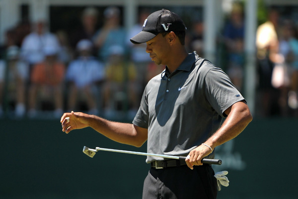 """""""I was trying to be patient, trying to pick my spots, and I just kept making mistake after mistake,"""" Woods said."""