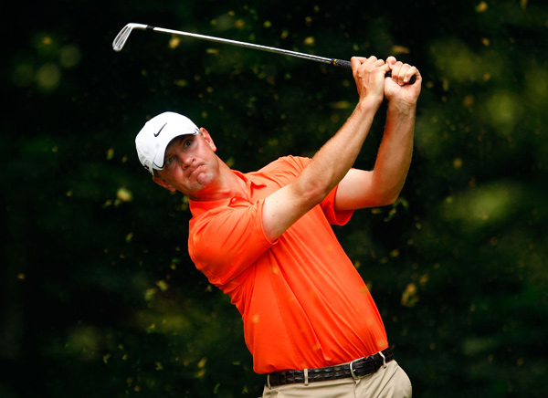 U.S. Open champion Lucas Glover is only three strokes back.