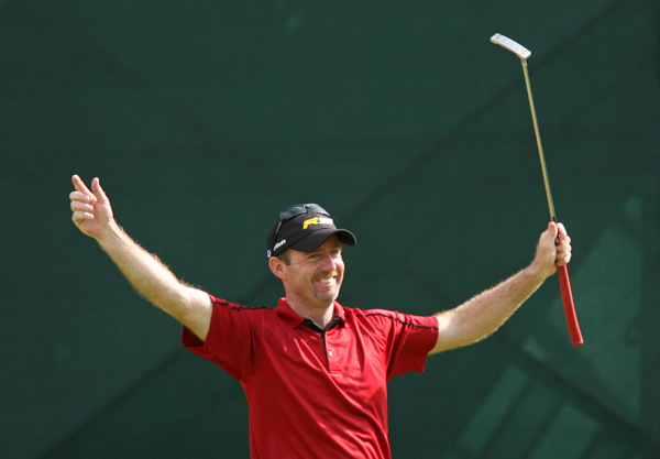 Rod Pampling, who played with Woods on Saturday, shot a one-over 71.