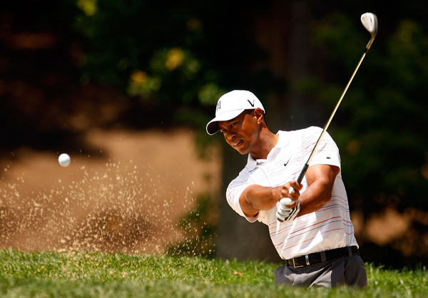 Third Round of the AT&T National                                          Tiger Woods made two birdies, two bogeys, an eagle and a double bogey to shoot even par.