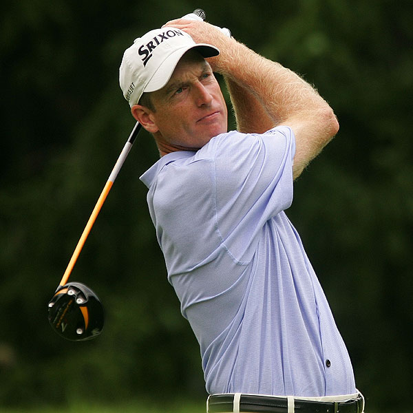 Jim Furyk had only one bogey during his first round. He is tied for the lead.
