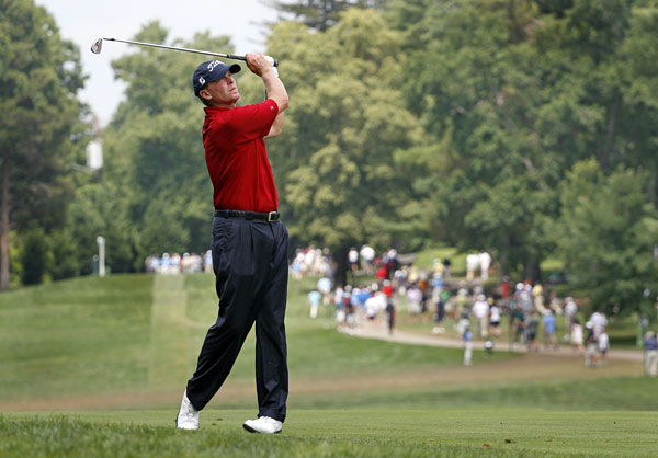 Third Round of the AT&T NationalSteve Stricker shot a four-under 66 to finish at nine under, one behind the lead.