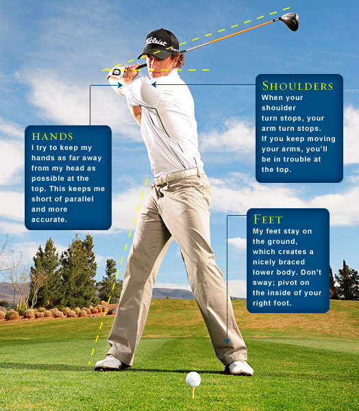 1: FROM THE TEE                       How to be More Accurate                       Shorten your backswing and make a smooth and deliberate takeaway