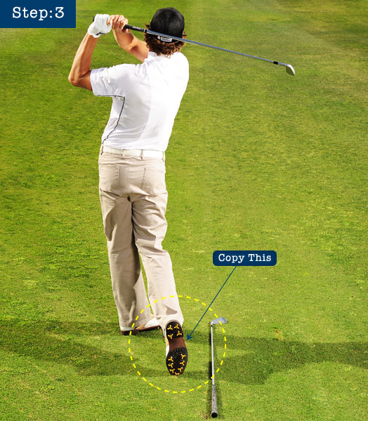 STEP 3                       Watch your ball flight; that's the best clue to what you did right and wrong in your swing.