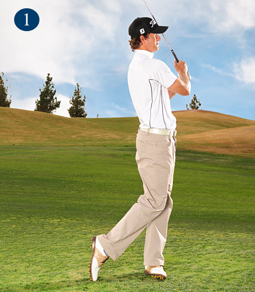 MY KEYS TO HITTING WEDGES                       1. LOW RUNNER                       Pinch the ball and cut your follow-through.