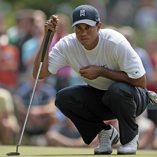"Woods said his poor putting is keeping him from contending this week. ""My speed is decent, pretty good speed, I'm just not rolling the ball on-line consistently,"" Woods said Friday. ""I'm not hitting my lines that I'm choosing.""                                              • Leaderboard: Saturday's scores at Memorial                                              • Pampling leads by three                                              • Photos: Nicklaus through the years                                              • Photos: 10 most overrated courses in the U.S.                                              • Rumors: Wie surprised by withdrawl?                                              • Video: Stiff wedges like Zach Johnson"