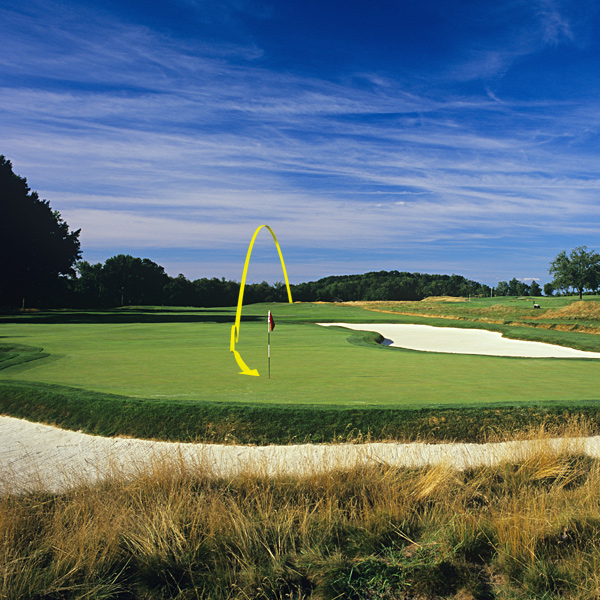 "Toughest Long Shot                                              Tee shot, eighth (par 3, 288 yards) hole                                              Fear factor: Um, it's a 288-yard par 3. It also has an enormous, three-puttable green, a swarm of greenside sand and a sinuous ditch that hugs the left side of the hole and wraps around the back of the green.                                               How the pros should play it: ""The shot is tough because it's almost a 300-yard par 3 and there is a cross-bunker                       and bunkers left and right of the green. A lot of the guys will be hitting driver and they still need to keep the ball on the right side of the pin or they will have a very difficult two-putt. The best strategy is to hit a draw and chase the ball up on the green.""                        — Hank Kuehne, 1998 U.S. Amateur champion and a frequent Oakmont visitor                                              Average Joe: ""My 3-wood from 225 yards found a right-side bunker. Two sand shots and two putts later, I limped toward the Pennsylvania Turnpike with a double-bogey 5."""