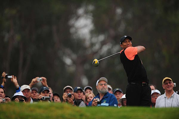 """The golf course is in perfect shape,"" Woods said of Torrey Pines. ""It's totally different than what we play here in January."""