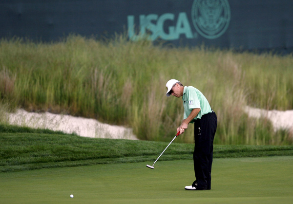 U.S. Open Challenge at Bethpage BlackLarry Giebelhausen, a Phoenix police officer, played Bethpage Black, host to next week's U.S. Open, with Michael Jordan, Justin Timberlake and Ben Roethlisberger on Friday.