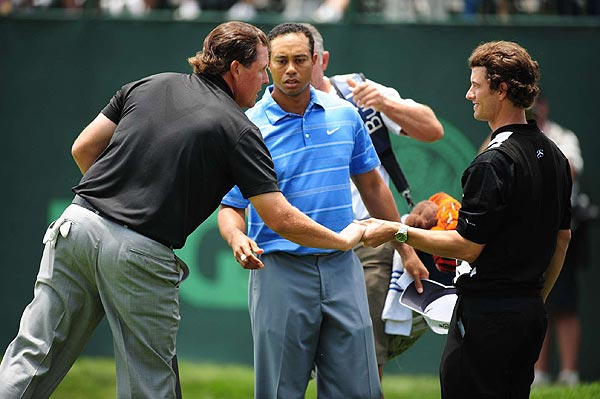 The Big Three will tee off Friday at 4:36 p.m. EST. More Galleries from the U.S. Open                       • First Round of the U.S. Open                       • Inside Tiger's Amazing Mind                       • How Tiger Woods Makes His Millions
