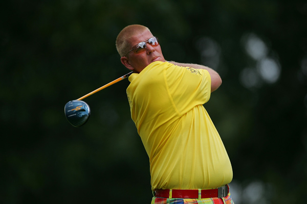 Second Round of the St. Jude Classic                       John Daly was on the projected cut line after he finished with a double bogey.