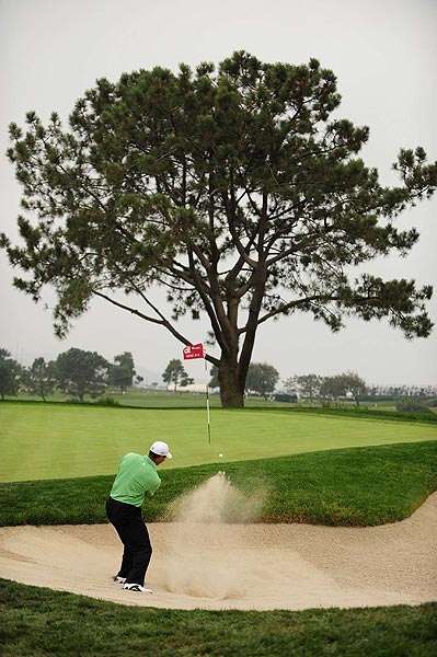 """""""This golf course is only going to get harder and more difficult,"""" Woods said. """"It doesn't take much, just make a couple of mistakes here and there. This golf course will bite you quick. And you just have to hang in there and stay patient."""""""