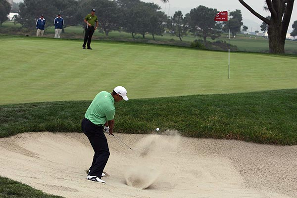 """""""I felt that if I played well in the back nine, I could definitely get back to even par for the tournament,"""" Woods said, """"and I would be right back in the championship. And all of a sudden I started running them in there from everywhere."""""""