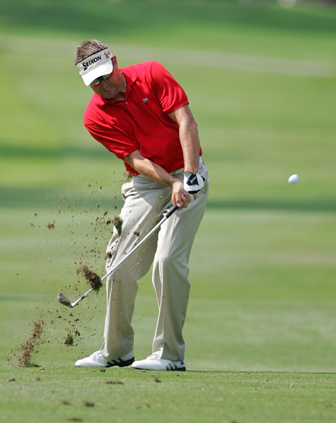 Robert Allenby is three shots back after a 68.