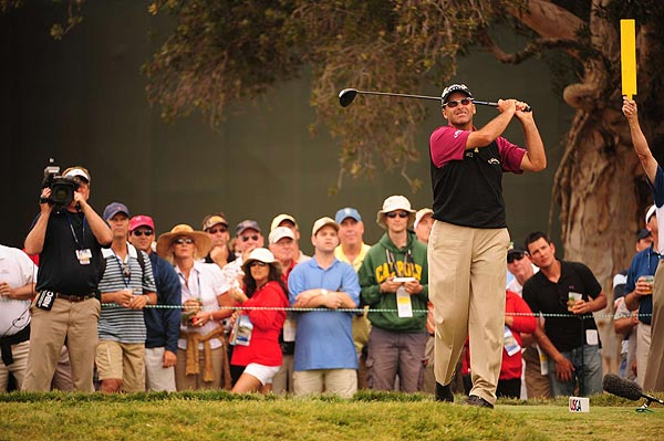 Rocco Mediate is one stroke off the lead at two under par.