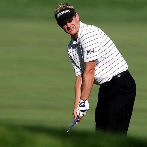 "Luke Donald was one under until a double bogey on No. 5. ""You know, you never give up in the U.S. Open,"" Donald said. ""You might be 10 over, and that's kind of what happened to me last year. I was eight or nine over the first round, and came back and had a chance to win."""