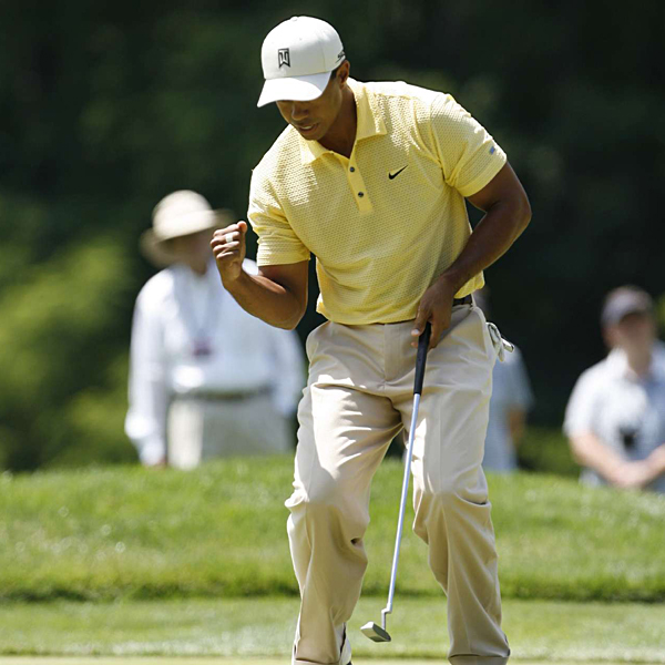 """If you're a 10-handicapper, there is no way you're breaking 100 out there,"" Woods said. He shot four-over 74 on Friday and is five over for the tournament."
