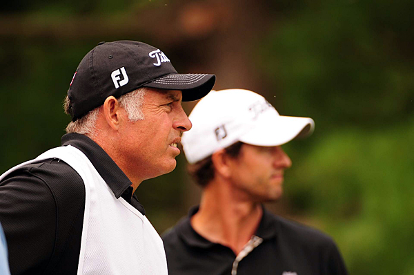 shot a 74, with his new caddie for the week, Steve Williams, on the bag.