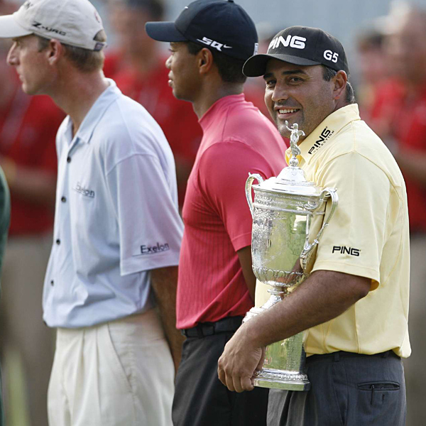 Angel Cabrera hit all the right shots to hold off Tiger Woods and Jim Furyk by a stroke on a Sunday of survival at the U.S. Open, shooting a 1-under-par 69 to give Argentina its first major championship in 40 years.                                          Related Links                                          • Angel Cabrera: Get to know the champ