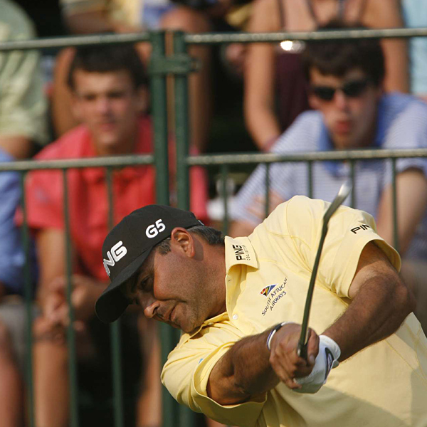 Cabrera held a three-shot lead after a birdie on 15.