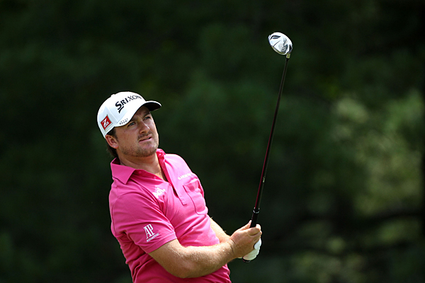 Graeme McDowell, last year's U.S. Open champ, shot 69 to get to even for the tournament.
