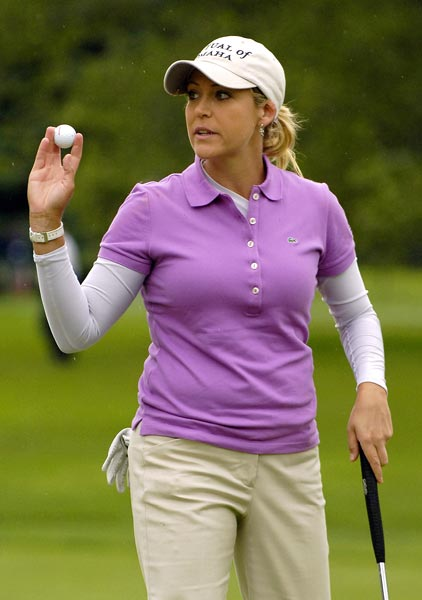Cristie Kerr is in a seven-way tie for the lead at four under par.