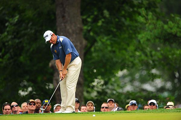 Lee Westwood recovered from a 75 on Thursday to tie for third place.