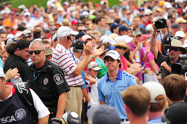 "Everywhere he walked on Sunday, McIlroy received huge ovations from the gallery, who turned out to watch his historic performance. ""The support I got out there today was absolutely incredible,"" McIlroy said after his round."