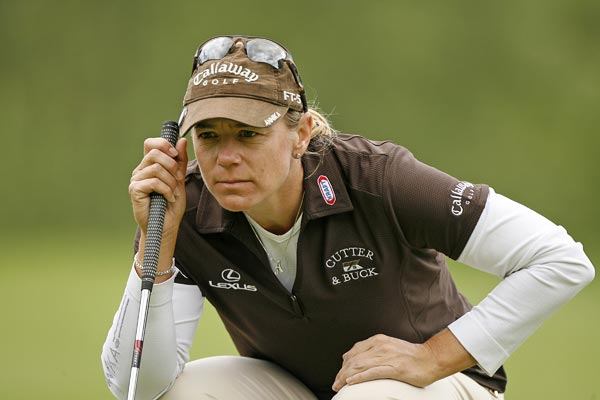 Annika Sorenstam had three-straight birdies on Nos. 10-12. She is at one over par.