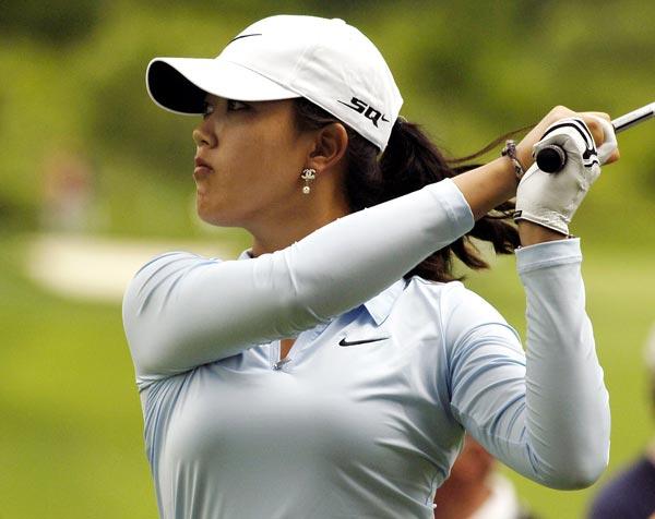 First Round of the Wegman's LPGA                     Michelle Wie shot a one-under 71 in the first round.