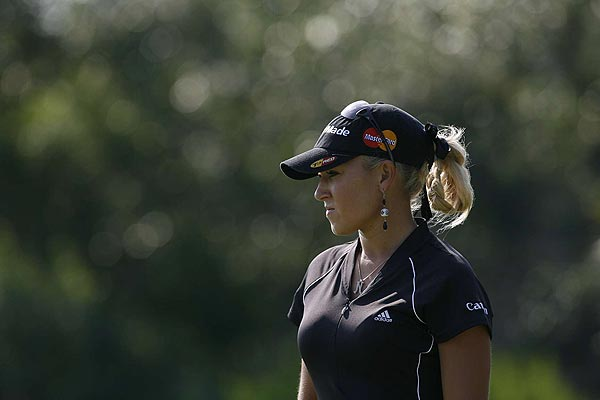 Natalie Gulbis finished at eight under par.