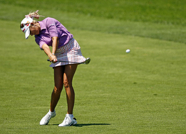 Natalie Gulbis made two birdies on the back nine to shoot a 69.