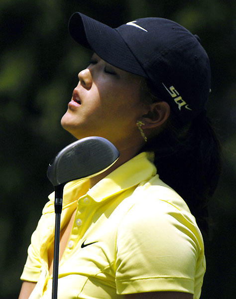 Michelle Wie finished her round with three bogeys and two birdies.