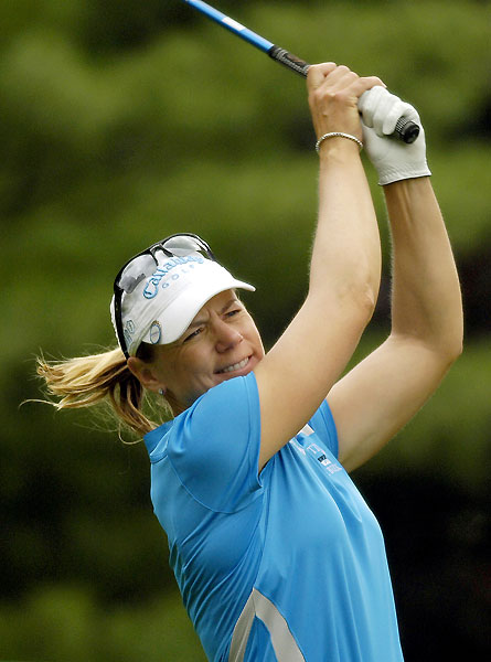Annika Sorenstam broke 70 for the first time this week with a final-round 69.