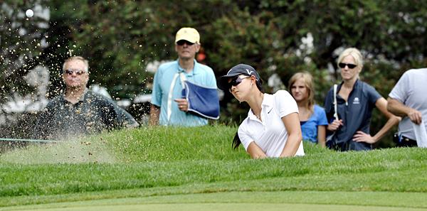 Michelle Wie bogeyed two par 5s in her round of even-par 72.
