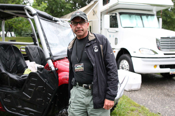 "Scott Dennison, a.k.a. ""the People's Security Dude,"" helped with security at Bethpage."