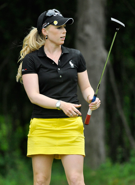 Morgan Pressel finished a distant second at nine under.