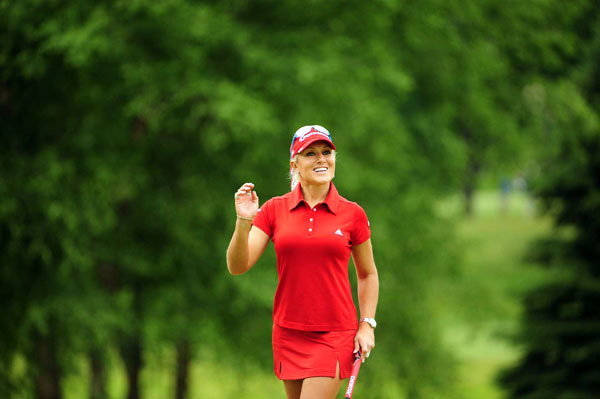 Natalie Gulbis birdied two of the first three holes.