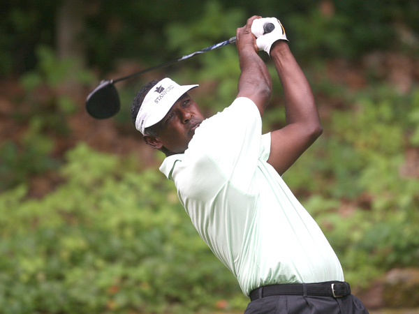 Vijay Singh made three birdies and three bogeys.